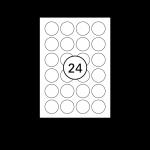 Etiketten Weiss Rund - Ø 40 mm