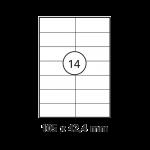 Etiketten Weiss - 105 x 42,4 mm