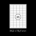 Etiketten Weiss -  38 x 21,2 mm