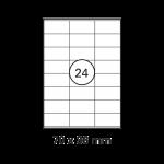 Etiketten Weiss - 70 x 36 mm
