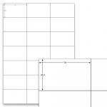 Etiketten Weiss - 70 x 42,3 mm