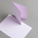 Karten Farbig A6 hochdoppelt Lila | 25 Stück