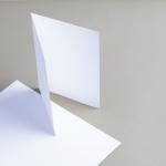 Karten Weiß A5 hochdoppelt 210 g/qm