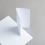 Karten Weiss DIN lang Wickelfalz/2xgerillt 200 g/m²