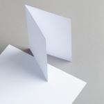 Karten Weiss A6 hochdoppelt 250 g/m²