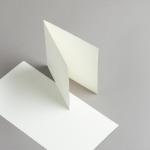 Karten Elfenbein 140 x 140 mm