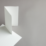 Echt Bütten Karten DIN lang hochdoppelt Altweiss | 25 Stück
