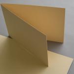 Farbige Karten 120 x 169 mm querdoppelt Sand