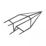 Farbige Karten 120 x 169 mm querdoppelt Dunkelblau