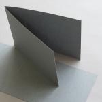 Farbige Karten 120 x 169 mm querdoppelt Grau