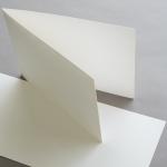 Farbige Karten 120 x 169 mm querdoppelt Cremeweiss