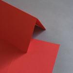 Colorplan Karten 169 x 120 mm hochdoppelt Hellrot