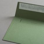 Colorplan Couverts DIN B6 gerade Klappe Olivgrün