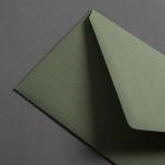 Colorplan Couverts DIN lang spitze Klappe Olivgrün