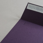 Colorplan Couverts 155x155 mm Aubergine