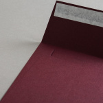 Colorplan Couverts 155x155 mm Weinrot