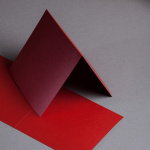 Sirio Pearl Karten 155 x 155 doppelt Tiefrot