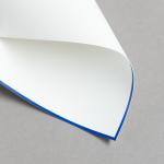 HS Luxury Papers - Karten A6 einfach blau gerändert | 25 Stück