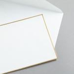 HS Luxury Papers - Couverts DIN C6 gold gerändert   25 Stück