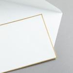 HS Luxury Papers - Couverts DIN C6 gold gerändert | 100 Stück