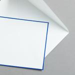 HS Luxury Papers - Couverts DIN C6 blau gerändert | 25 Stück