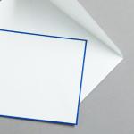 HS Luxury Papers - Couverts DIN C6 blau gerändert | 100 Stück