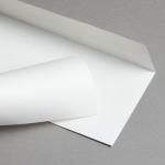 Metallics schimmernd Couverts DIN lang Weiss | ohne Fenster