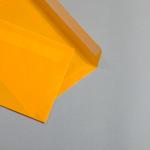 Transparent Farbig Couverts DIN C5 Orange