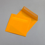 Transparent Farbig Couverts 160 x 160 mm Orange