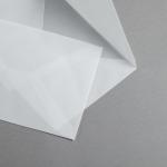 Transparent Premium Couverts nassklebend DIN C5