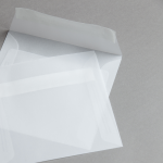 Transparent Premium Couverts 140 x 140 mm haftklebend