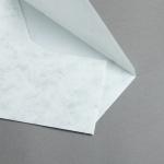 Marmor dtp Couverts DIN lang Hochweiß / Hellgrau | ohne Futter