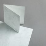 Marmor dtp Karten DIN A6 hochdoppelt | Hochweiß / Hellgrau