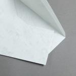 Marmor dtp Couverts DIN lang Hochweiß / Hellgrau | mit Futter