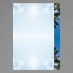 Himmel mit Palmen DIN A4
