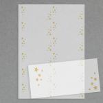 Etiketten mit Sternchen transparent
