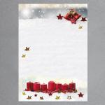 Kerzen im Schnee 100 Blatt