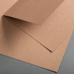 Kraftpapier Klappkarte quadratisch 150 x 150 mm