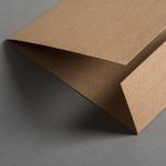 Kraftpapier Muskat Klappkarte quadratisch 360 x 155 mm