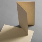 Graspapier Karten DIN lang hochdoppelt