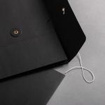 Falttasche C4 mit Bindfadenverschluss Schwarz