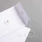 Couvert DIN lang mit Bindfadenverschluss Weiß