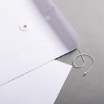 Couvert C4 mit Bindfadenverschluss Weiß