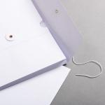 Falttasche C4 mit Bindfadenverschluss Weiß