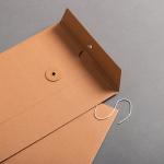 Couvert C5 mit Bindfadenverschluss Braun