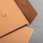 Falttasche C4 mit Bindfadenverschluss Braun