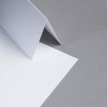 Metallics gebürstet Karten DIN lang hochdoppelt Silberweiss