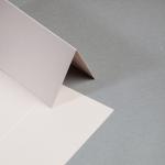 Metallics gebürstet Karten DIN lang hochdoppelt Nude