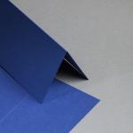 Metallics gebürstet Karten DIN lang hochdoppelt Blueprint