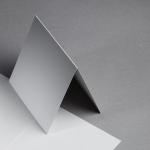Metallics gebürstet Karten 150 x 150 mm hochdoppelt Antimon